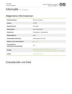 Informatik (Ein-Fach-Bachelor)