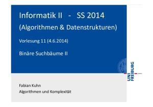 Informatik II, SS 2014