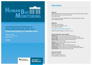 Information. 2nd International Conference on Human Biomonitoring, Berlin 2016 Science and policy for a healthy future