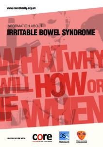 INFORMATION ABOUT IRRITABLE BOWEL SYNDROME