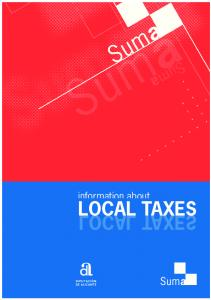 information about LOCAL TAXES LOCAL T