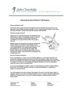 Information About Rotator Cuff Surgery