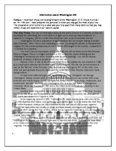 Information about Washington DC