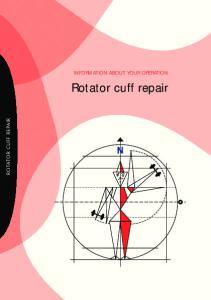 INFORMATION ABOUT YOUR OPERATION. Rotator cuff repair ROTATOR CUFF REPAIR