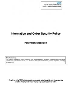 Information and Cyber Security Policy