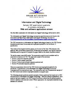 Information and Digital Technology