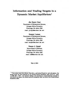 Information and Trading Targets in a Dynamic Market Equilibrium 1