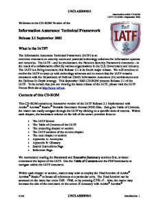 Information Assurance Technical Framework