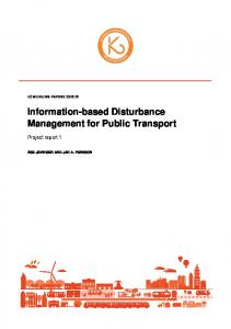 Information-based Disturbance Management for Public Transport