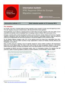 Information bulletin IFRC Regional Office for Europe Migration response