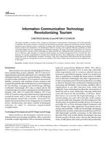 Information Communication Technology Revolutionizing Tourism