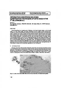 INFORMATION CONCERNING BUILDINGS CONSTRUCTION TECHNIQUES OF GETO-DACS IN THE 1 ST MILLENNIUM B.C