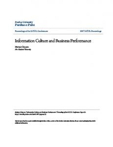Information Culture and Business Performance