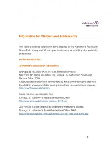 Information for Children and Adolescents