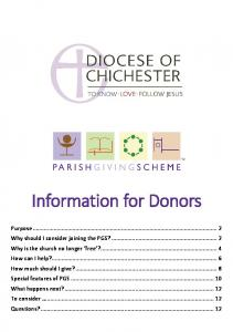 Information for Donors