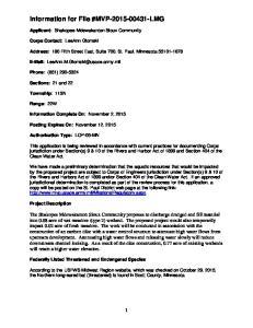 Information for File #MVP LMG
