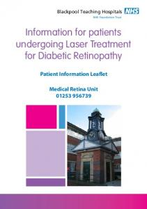 Information for patients undergoing Laser Treatment for Diabetic Retinopathy