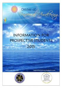 INFORMATION FOR PROSPECTIVE STUDENTS 2015