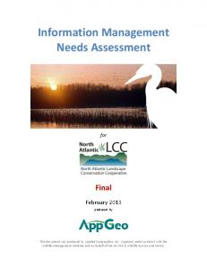 Information Management Needs Assessment