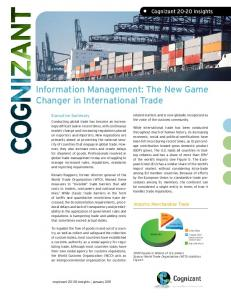 Information Management: The New Game Changer in International Trade