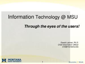 Information MSU