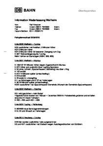 Information Niederlassung Weilheim