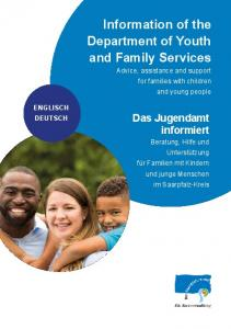 Information of the Department of Youth and Family Services