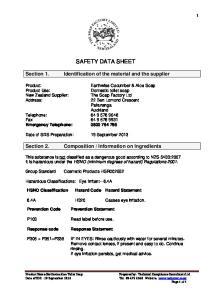 Information on Ingredients