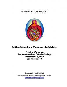 INFORMATION PACKET. Building Intercultural Competence for Ministers
