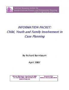 INFORMATION PACKET: Child, Youth and Family Involvement in Case Planning