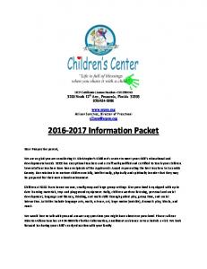 Information Packet
