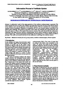 Information Process in Vestibular System