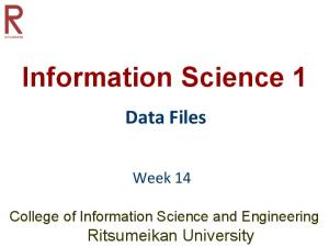 Information Science 1