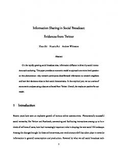 Information Sharing in Social Broadcast: Evidences from Twitter