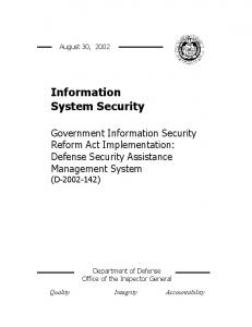 Information System Security