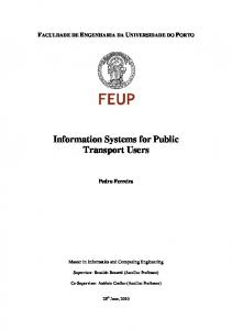 Information Systems for Public Transport Users