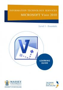 INFORMATION TECHNOLOGY SERVICES. MICROSOFT Visio Level 1 - Essentials LEARNING GUIDE