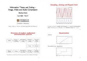 Information Theory and Coding Image, Video and Audio Compression