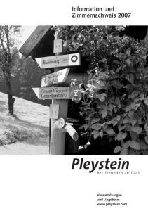 Information und Zimmernachweis Pleystein. Bei Freunden zu Gast. Veranstaltungen und Angebote: