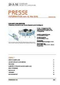 INFORMATION vom 12. Mai 2016