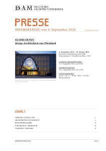 INFORMATION vom 4. September 2014