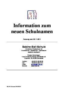 Information zum neuen Schulnamen
