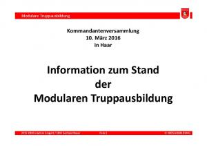 Information zum Stand der