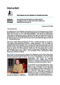 Informationen aus dem Klubleben der Schachfreunde Sasel