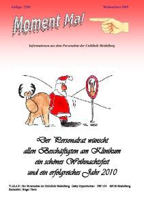 Informationen aus dem Personalrat der Uniklinik Heidelberg