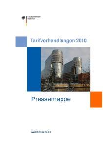 Informationen des Bundes zur Lohnrunde 2010