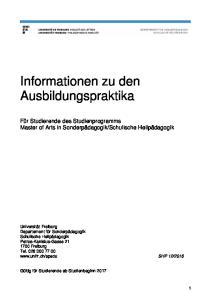 Informationen zu den Ausbildungspraktika