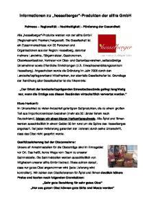 Informationen zu hesselberger -Produkten der allfra GmbH