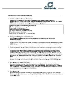 Informationen zu Ihrem Versicherungsvertrag