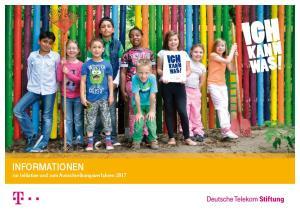 INFORMATIONEN zur Initiative und zum Ausschreibungsverfahren 2017